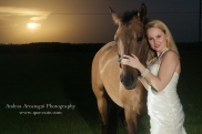 Bride with Horse Miami