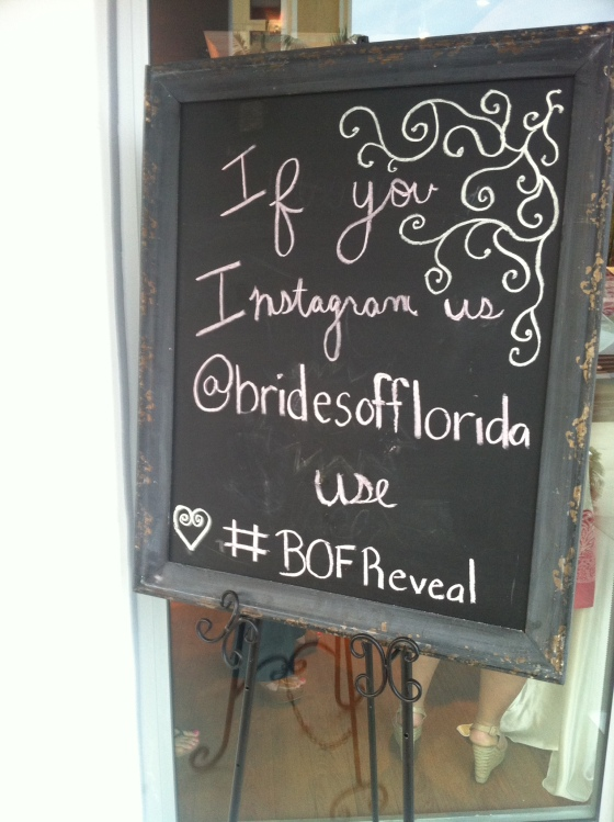 brides of florida instagram sign