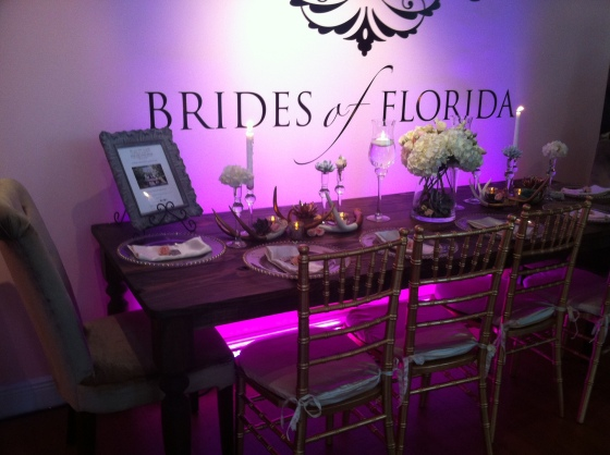 Salvage Snob farmhouse table display at Brides of Florida