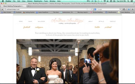 Andrea Arostegui Photography Pro Photo Blog website