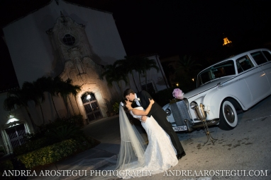 church of the little flower wedding